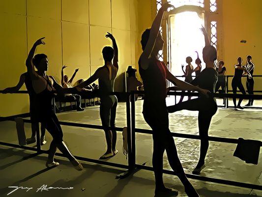 Clase de danza