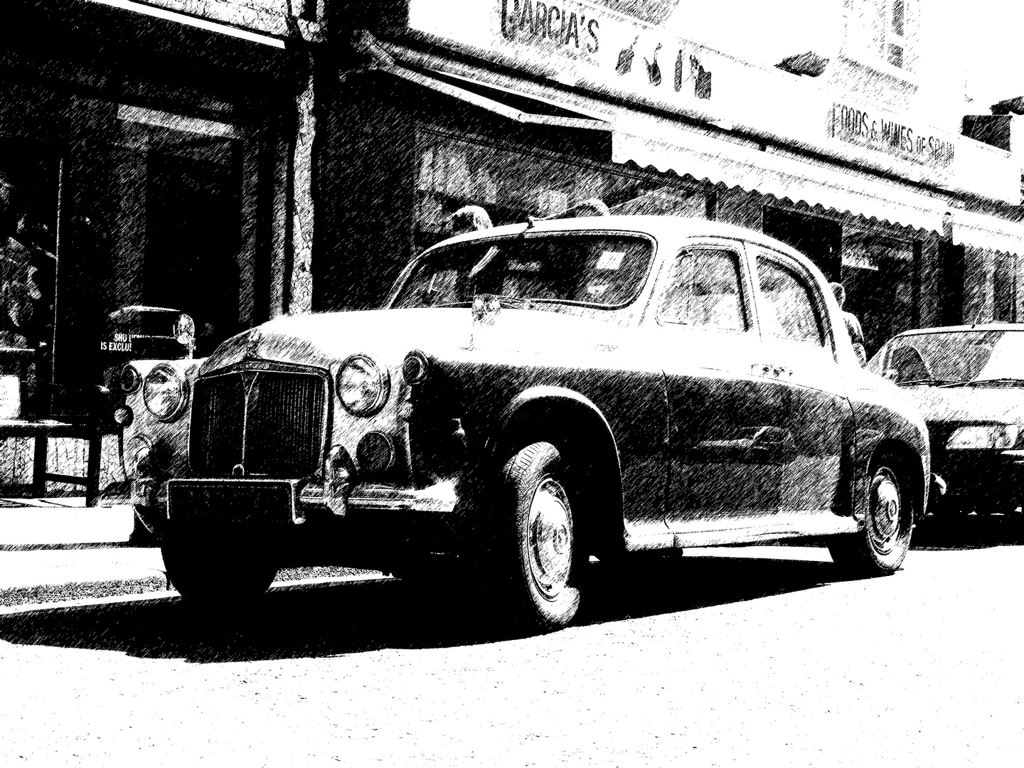 classic car in the city of london...