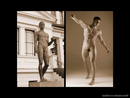 """Classic-Line - """"Statue and Male Nude"""" - Part I - Copyright by André Pizaro 2009"""