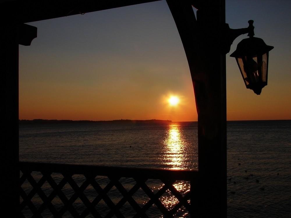 Classico tramonto valorizzato