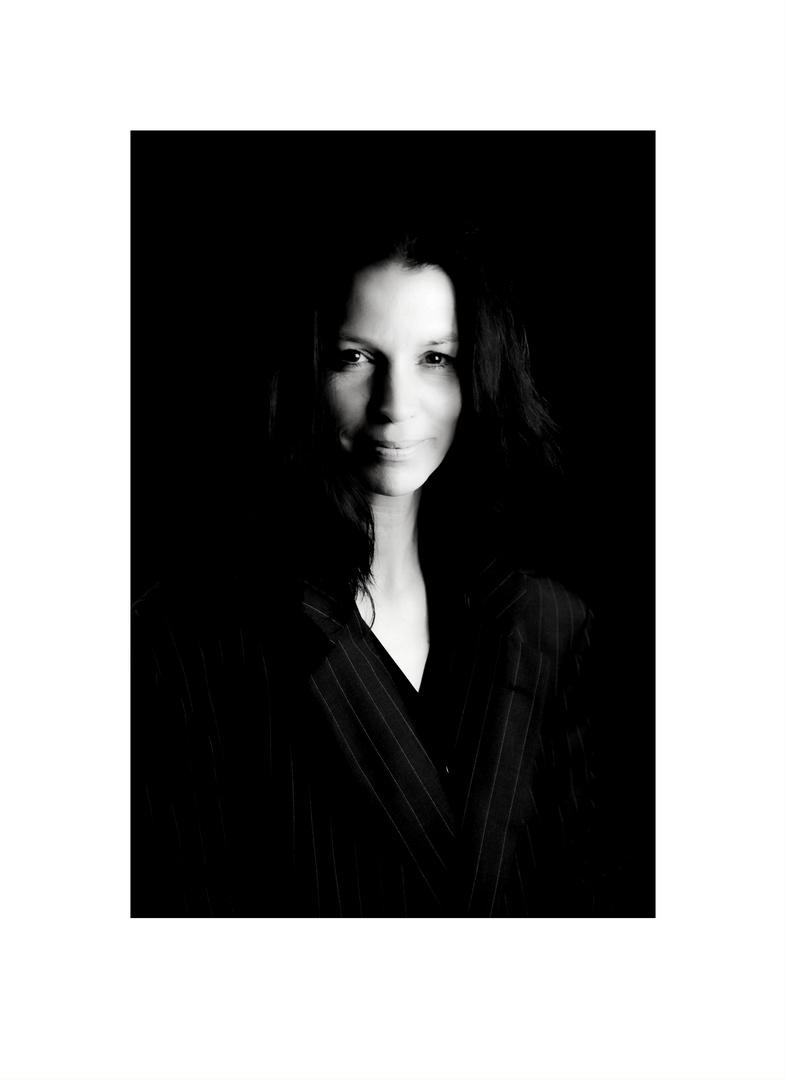 Claudia in black