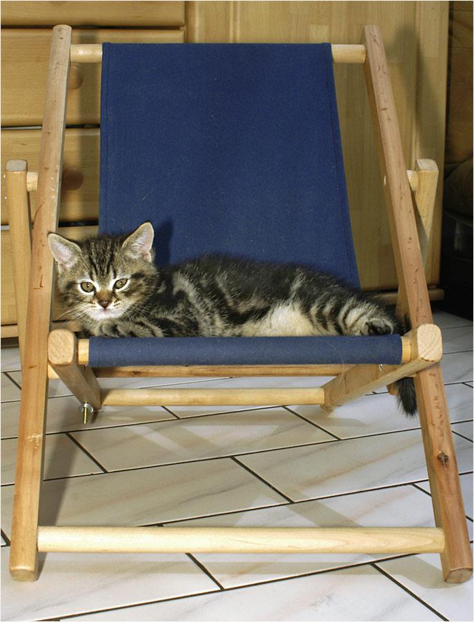 Claus Dieter hat jetzt seinen eigenen Liegestuhl ...