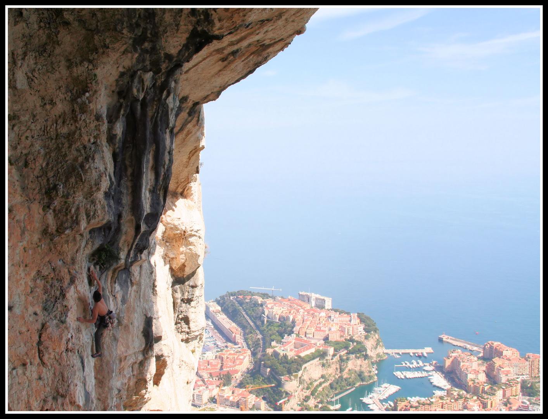 Climbing above Monaco...