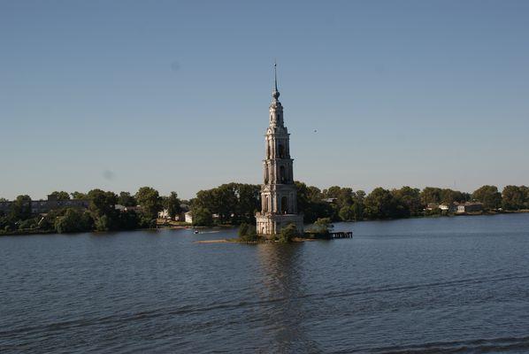 Clocher KALIAZINE noyé par la Volga (Russie)