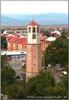 Clock Tower in Karnobat in Bulgaria.2006.