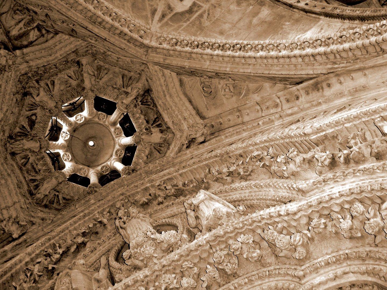 Cloister by Antoni Gaudí, Roof Details, Sagrada Família, Barcelona