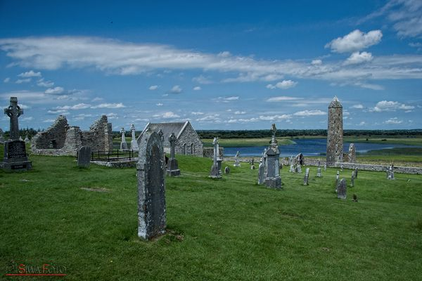 Clonmacnoise. in Irland