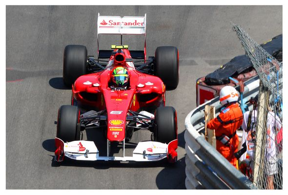 Close Call Felipe Massa Monaco 2011