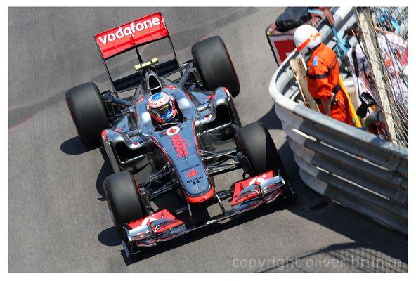 Close Call Jenson Button Monaco 2011