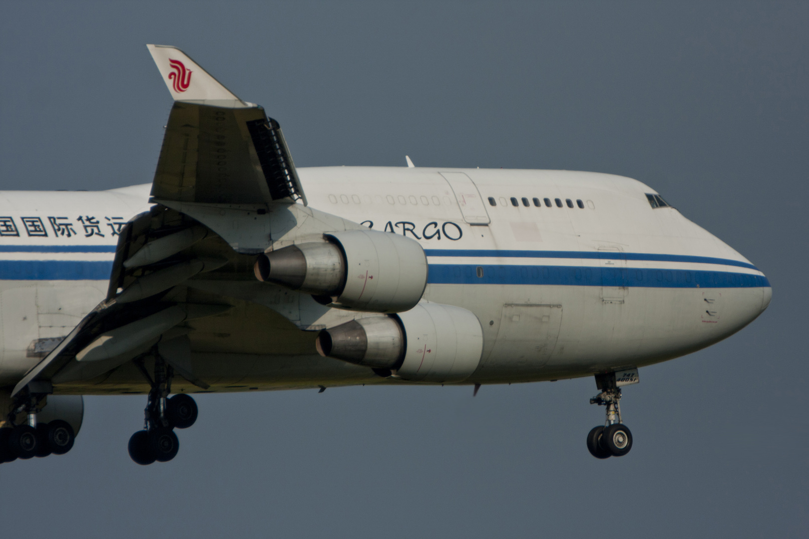 Close up Boeing 747-433(SF) Air China Cargo