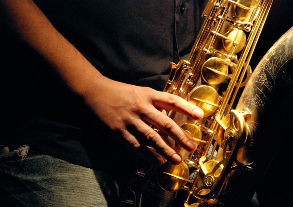 Close-up sur le sax