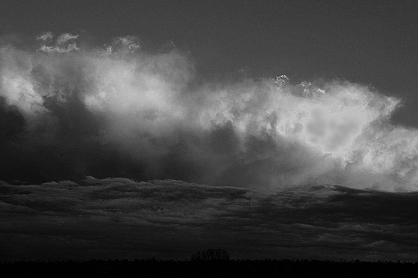 clouds bw