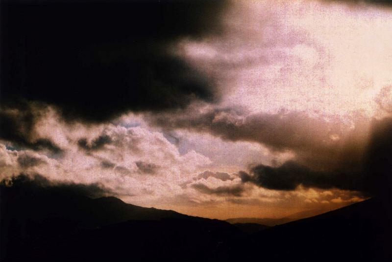 -clouds hanging around-