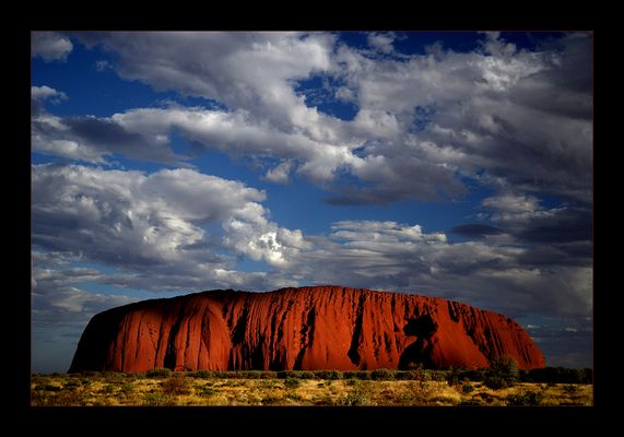 Clouds over Ayers Rock