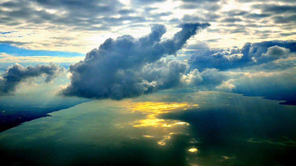 clouds over lake balaton