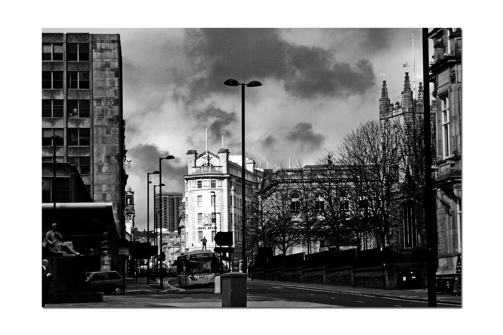 Clouds over Newcastle UK