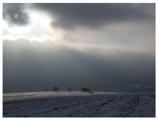 cloudy winter sun