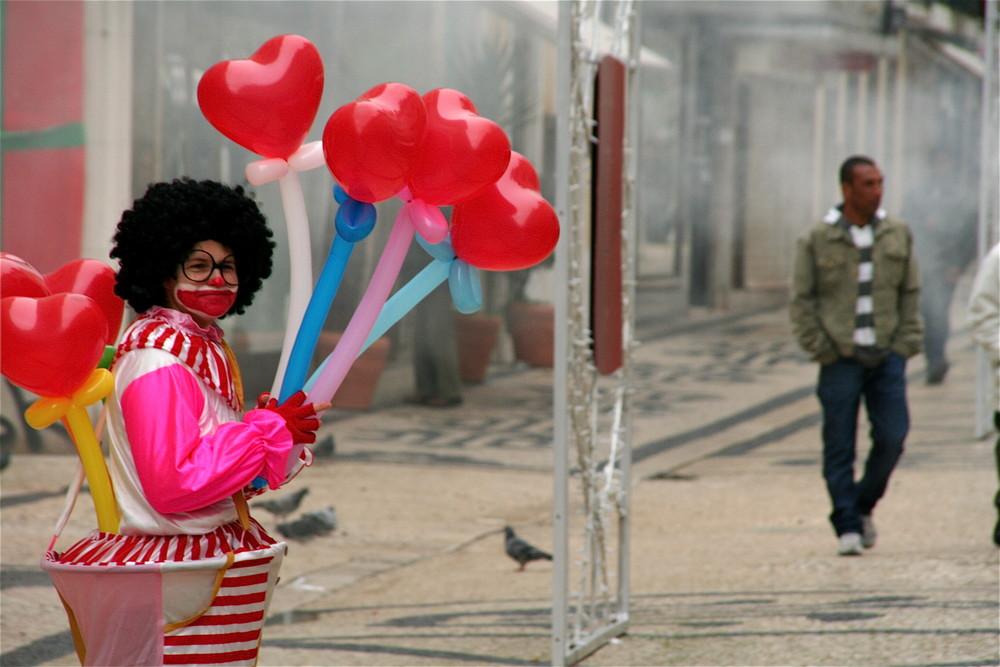 Clown in Lissabon