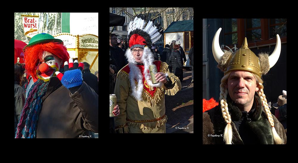 Clown - Indianer - Wickinger