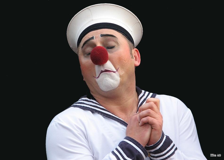 Clownerie auf Bühne 6 - der Aktive