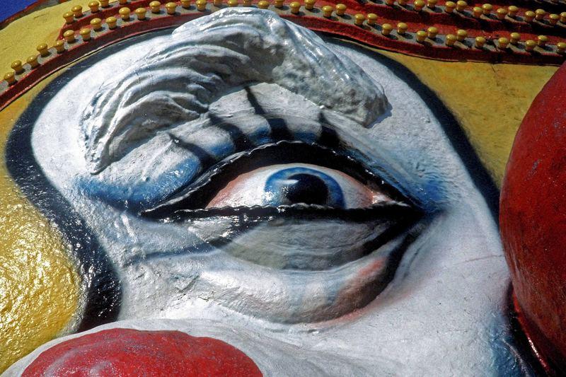 Clownfigur im Prater