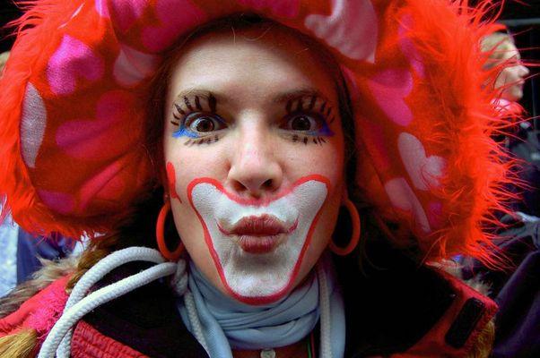 Clownfrau Rosenmontag Köln