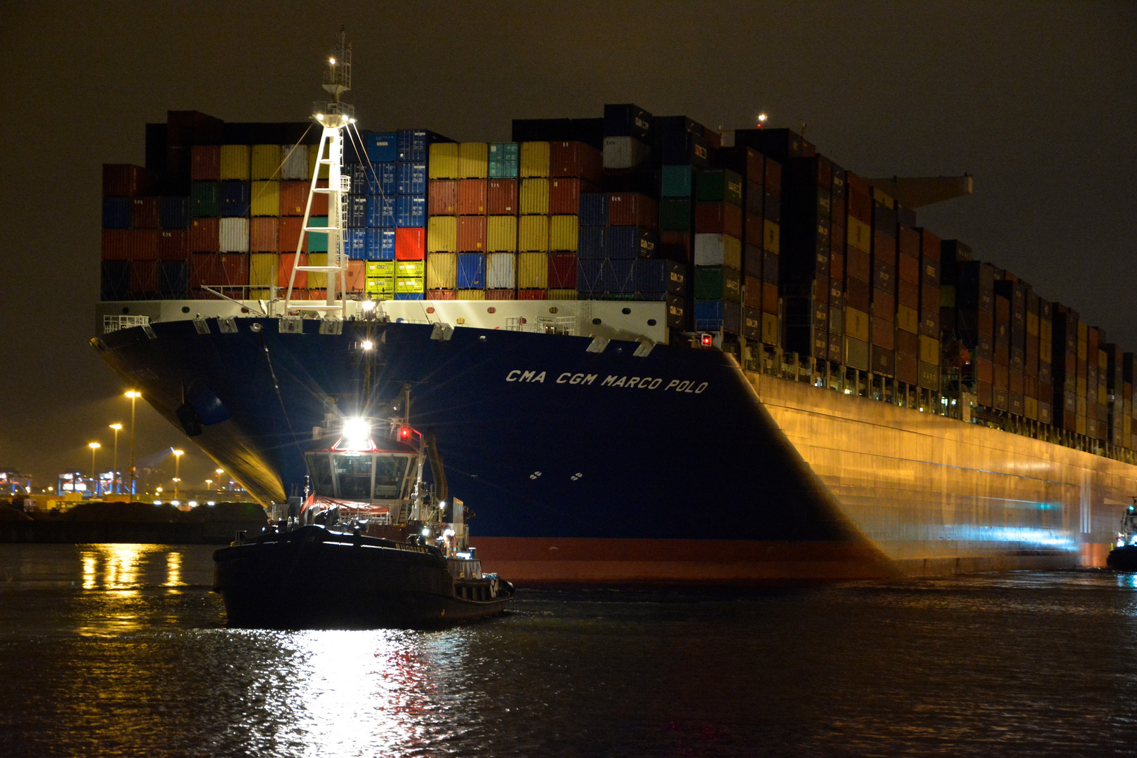 CMA CGM Marco Polo in Hamburg