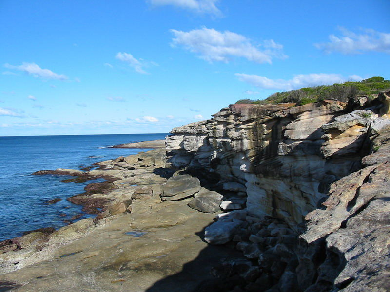 Coastal Rock Cliff