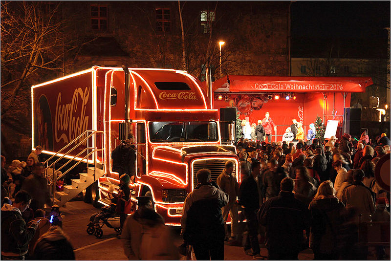 Coca Cola Truck - Station in Nordhausen