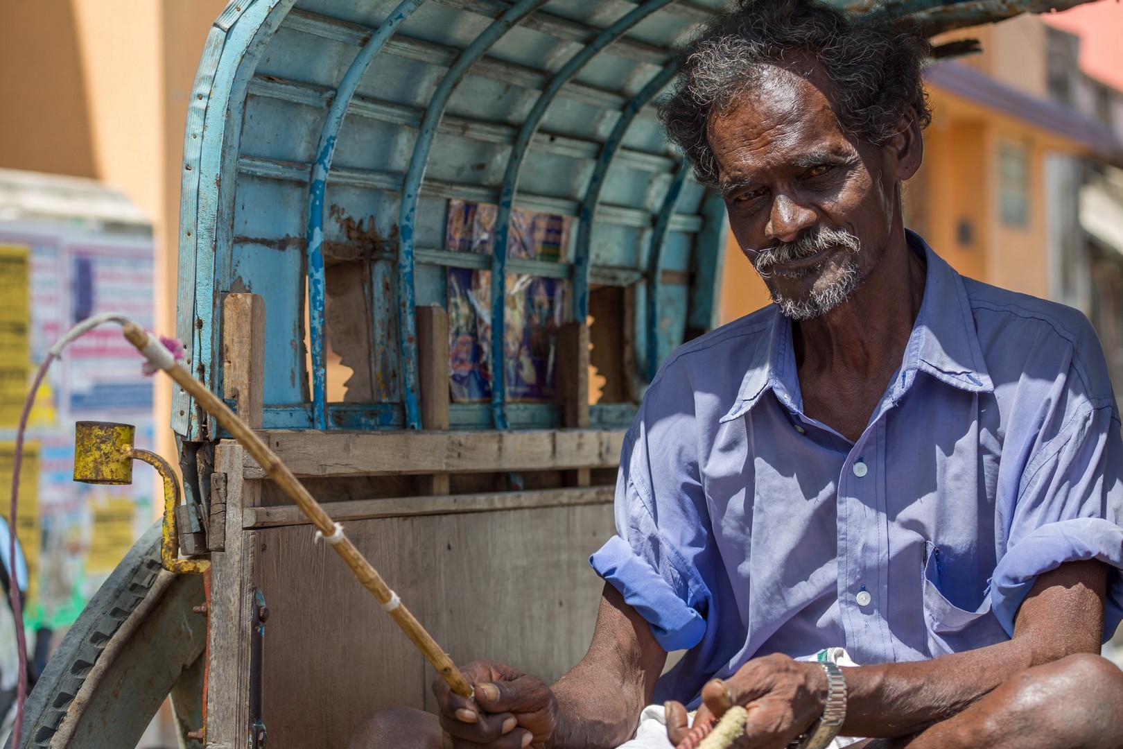 Cocher de charette, Rameshwaram