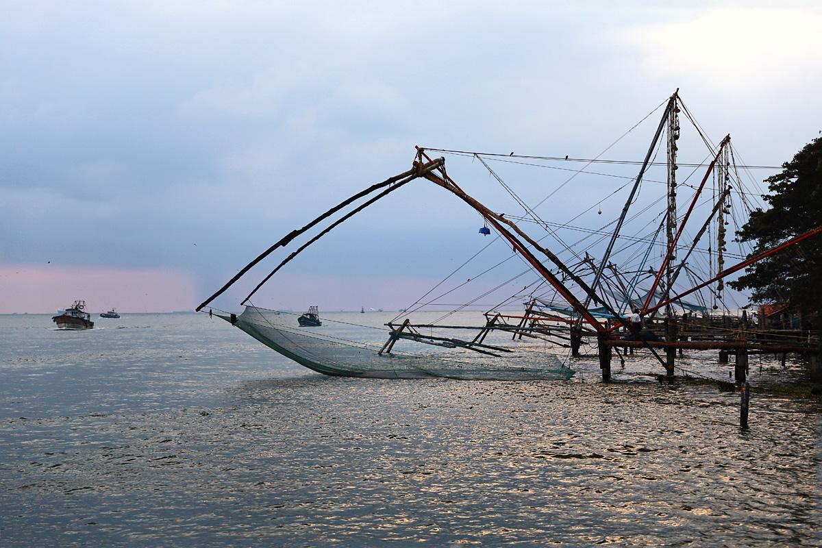 Cochin, Chinesische Fischernetze, Indien, Kerala, #2