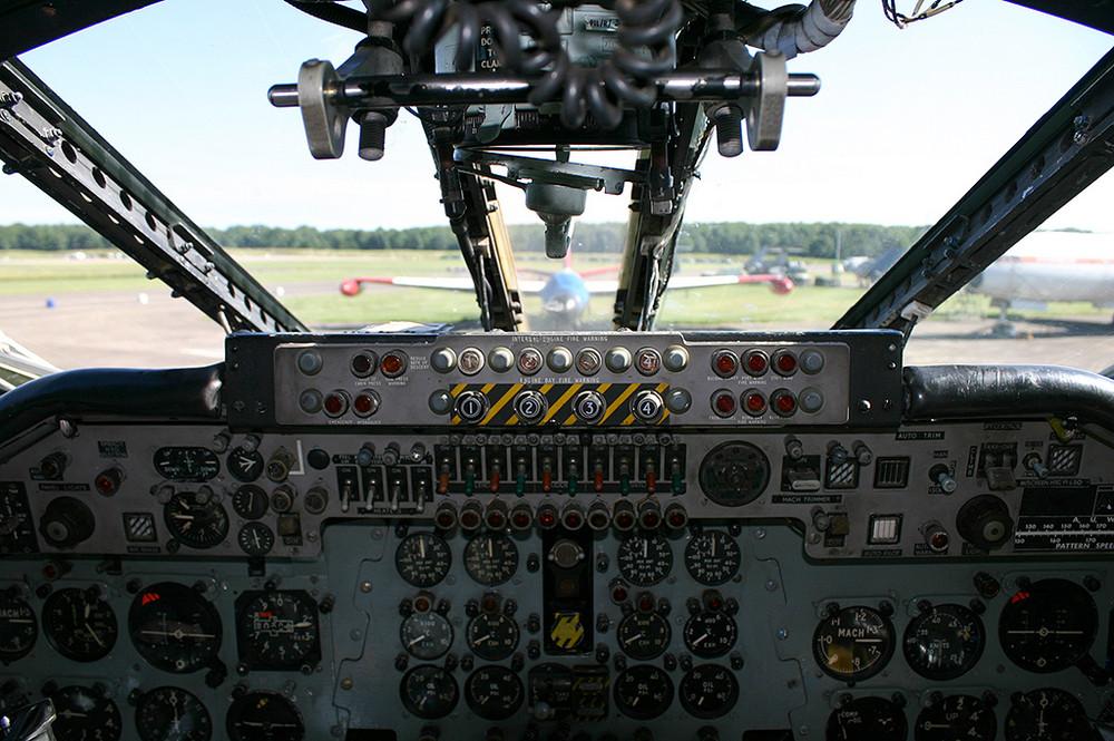 Cockpit of 'Teasin' Tina'