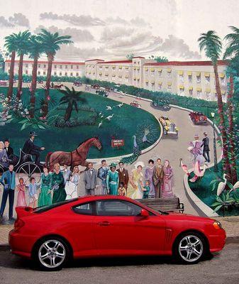 Cocoa Village: Red car
