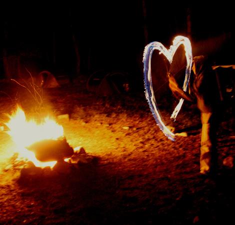 Coeur et flammes