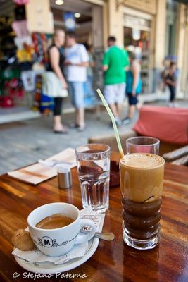 Coffee and Frappe in Athens Greece