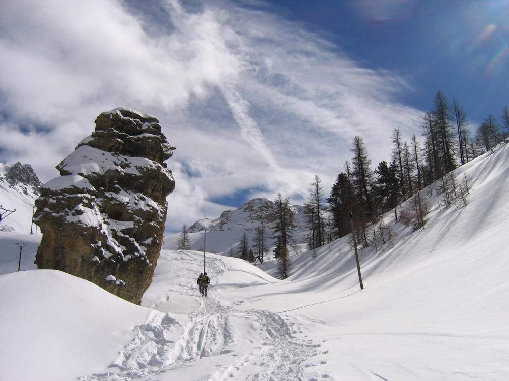 Col de l'izoard sous la neige