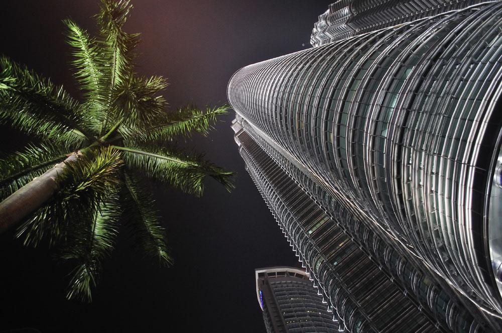 Col naso all'insu a guardar le Petronas
