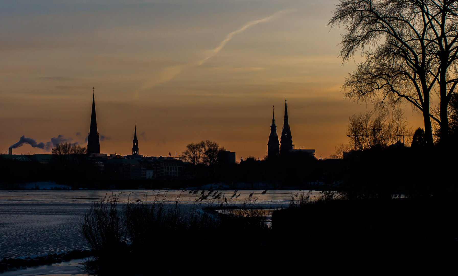 Cold Sunset In Town