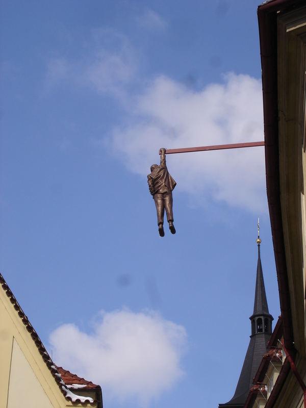 Colgado de Praga
