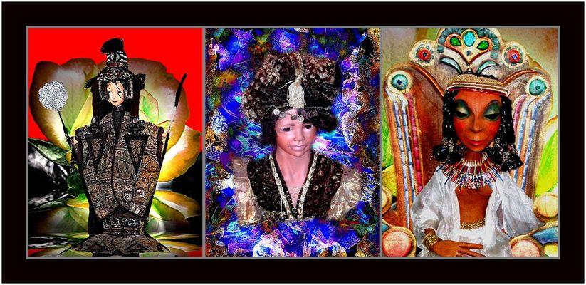 """Collage 4 zum Thema """"Puppen"""""""