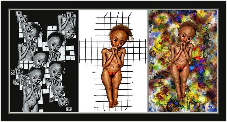 Collage 6 zum Thema Puppenausstellung