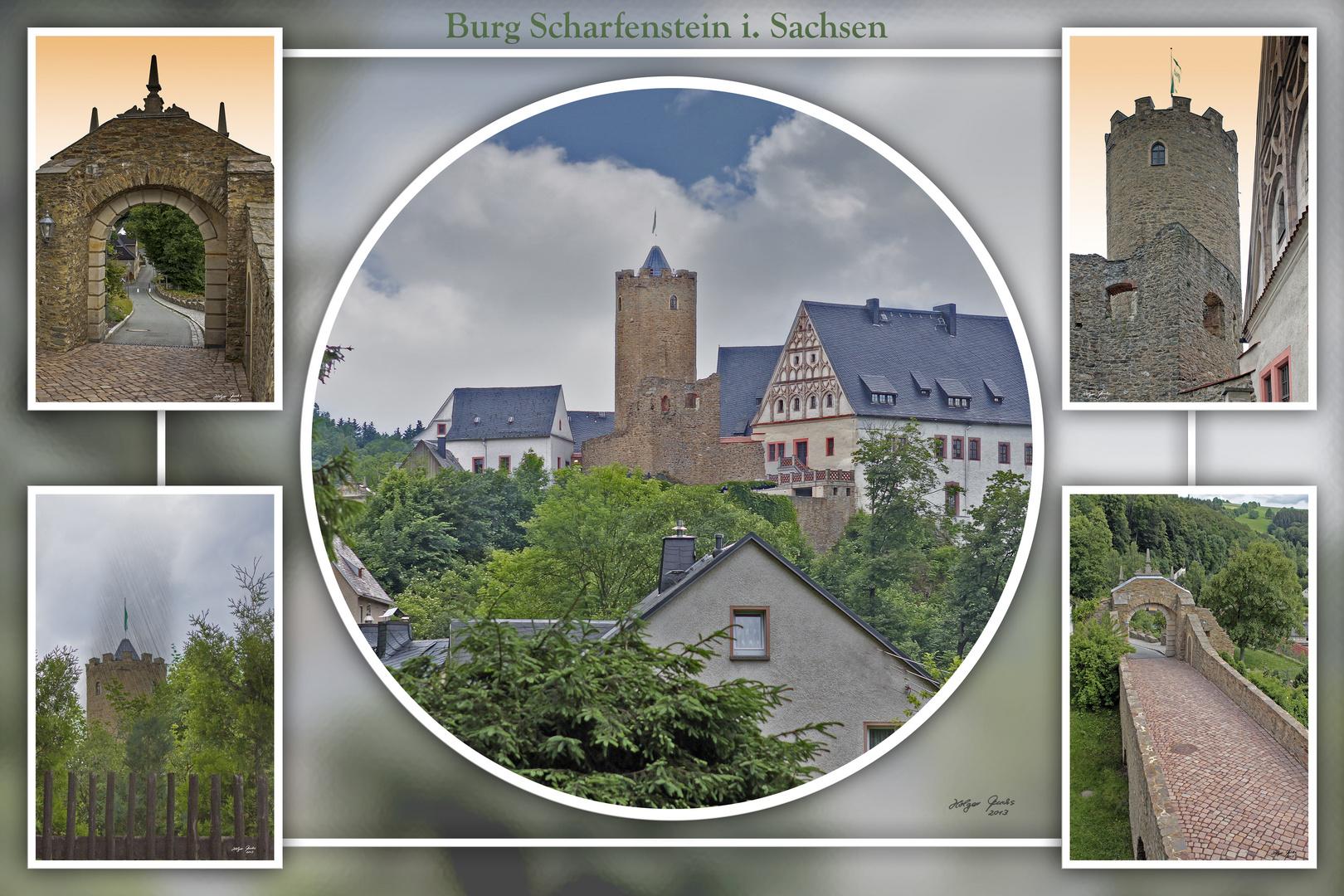 Collage Burg Scharfenstein i. Sachsen