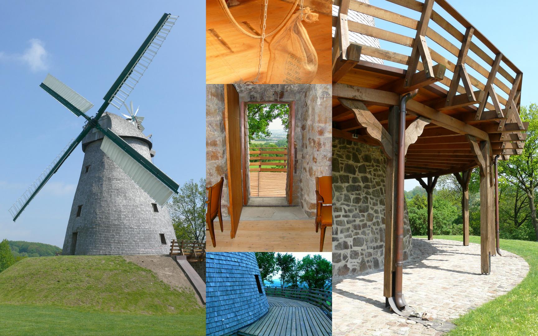 Collage der Windmühle in Exter (OWL)
