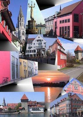 Collage einer Stadt
