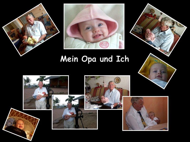 Collage - Mein Opa und Ich