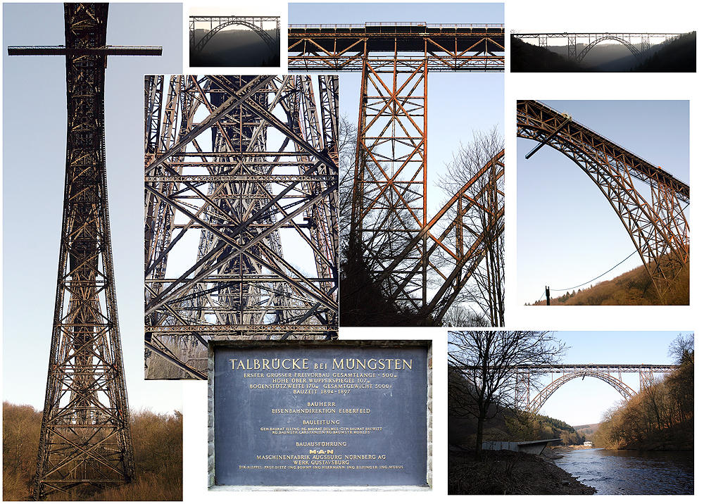 Collage Müngstener Brücke