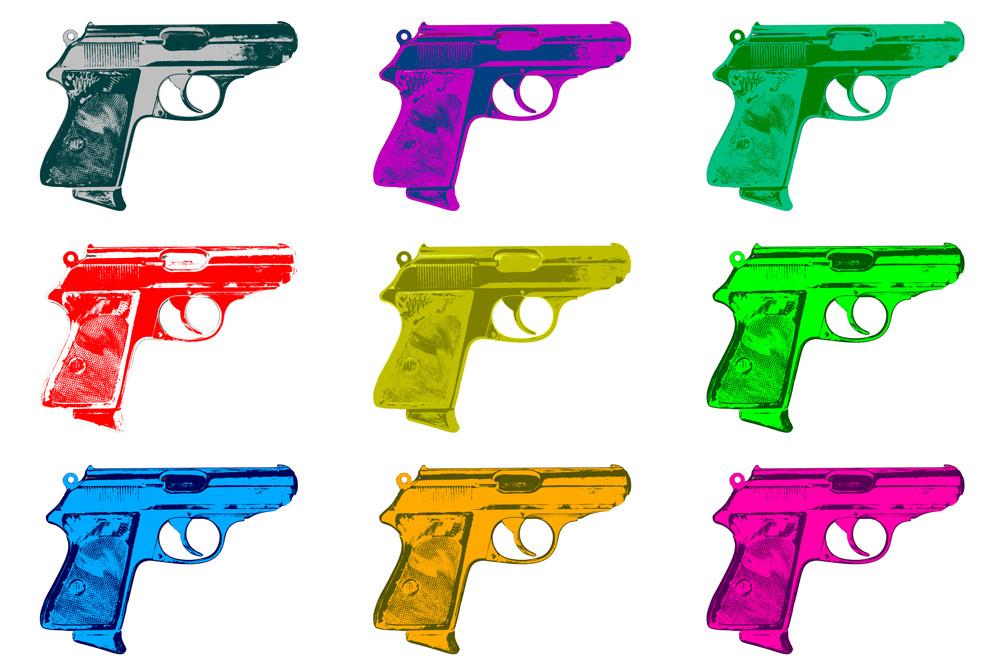 "Collage ""Pistole"""