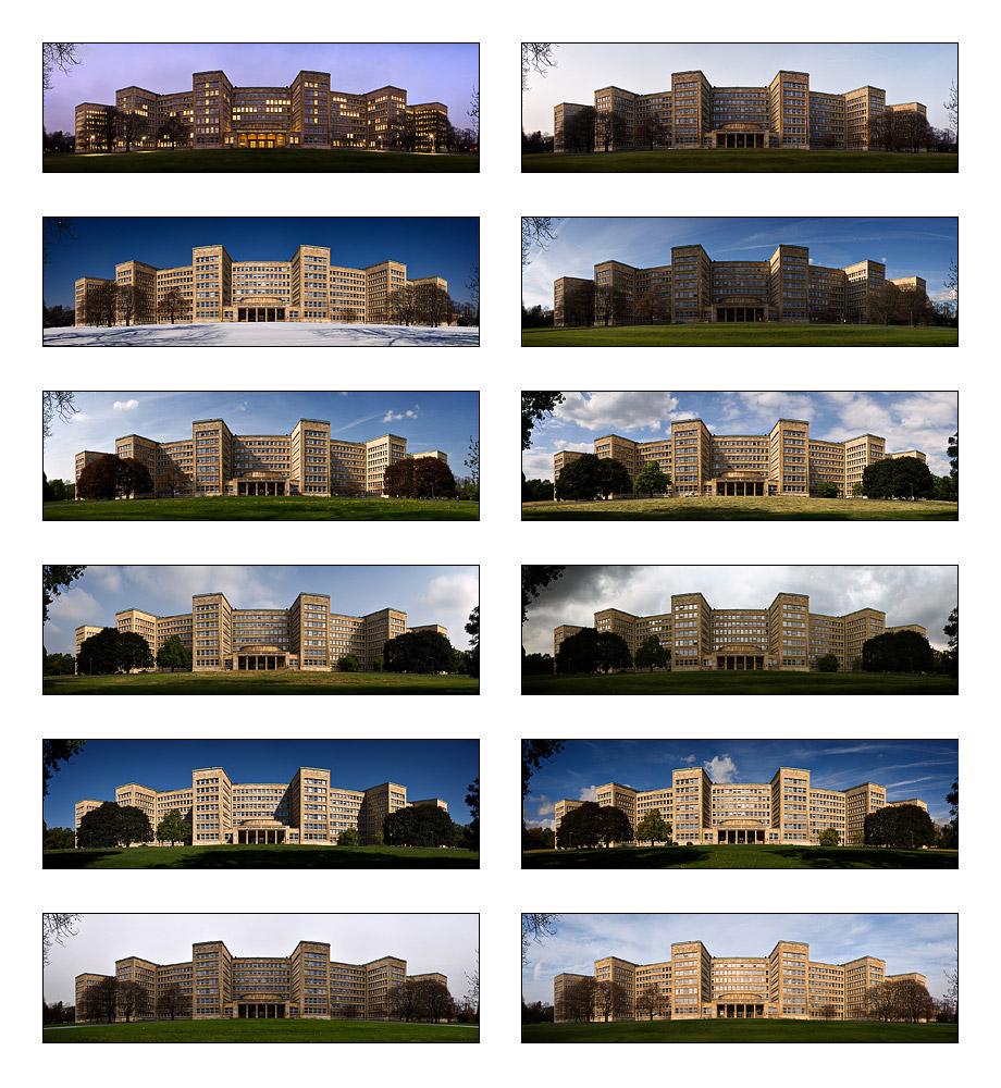 Collage Poelzig-Bau, im Jahr 2006 (13/12)