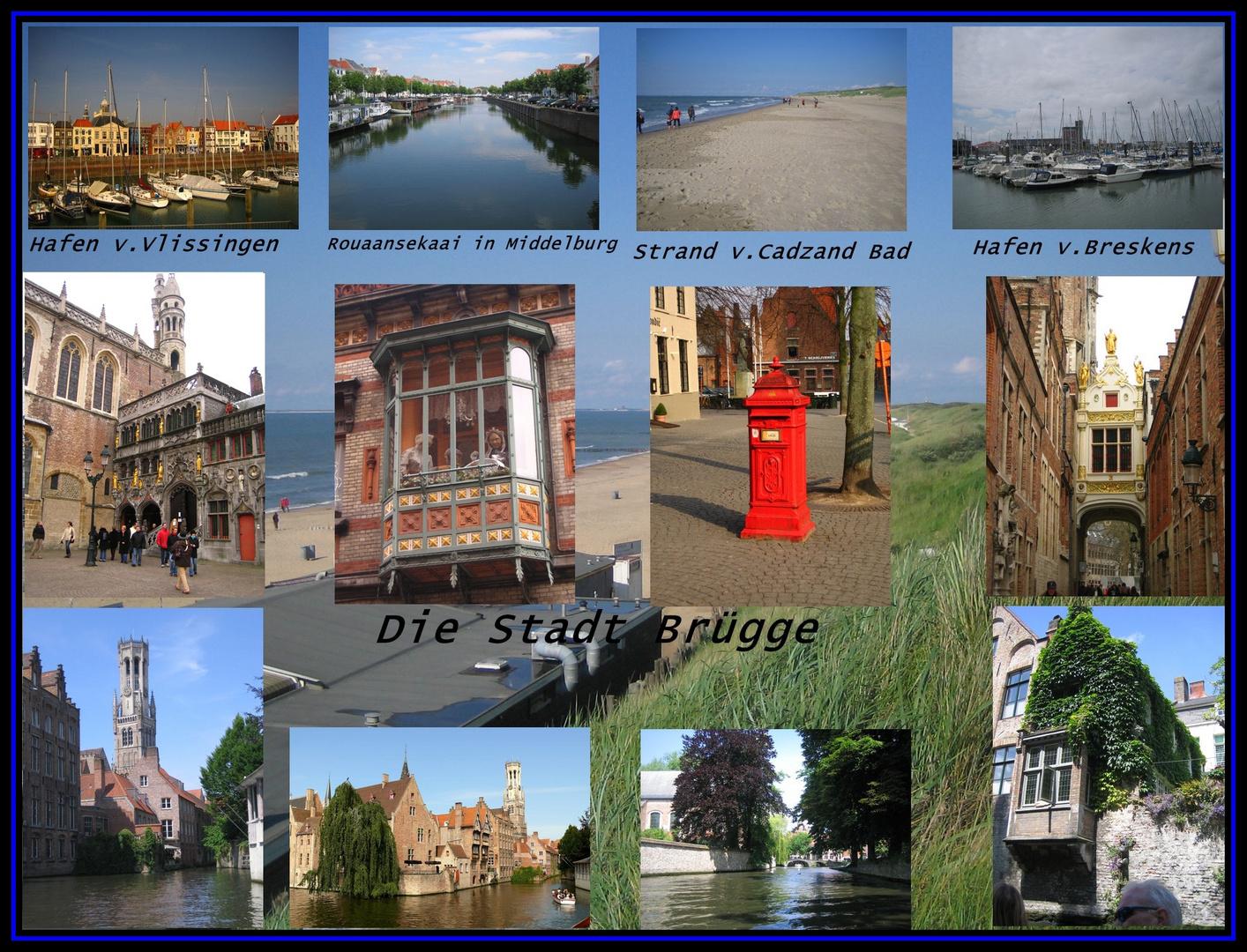 Collage von Brügge