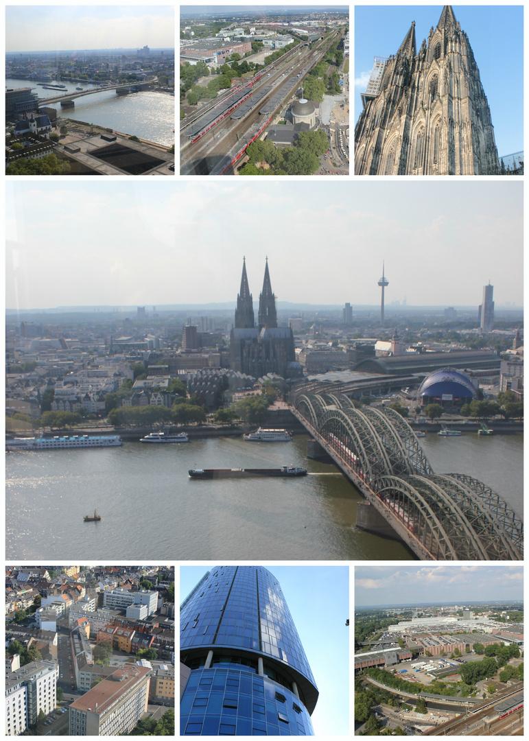 collage von heutigen köln